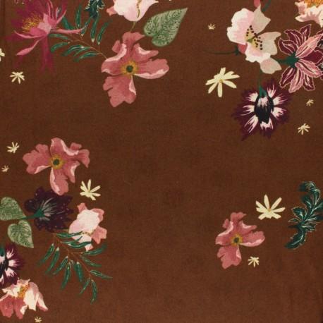 twill viscose Fabric - Black Halliste x 10cm