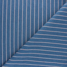 Striped jeans fabric - blue small Lara x 10cm