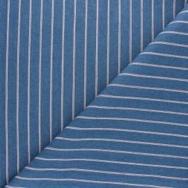 Tissu Jeans coton Petite rayure Lara - bleu x 10cm