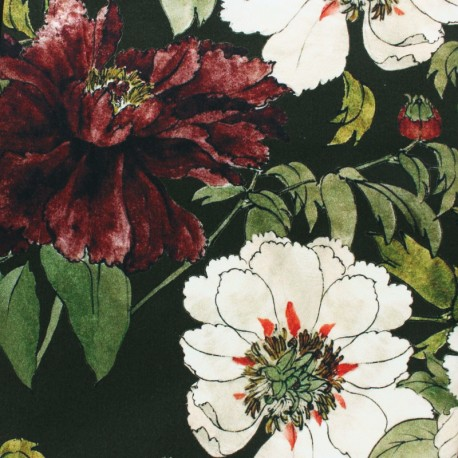 Elastane Gabardine fabric - black Dobby x 10cm
