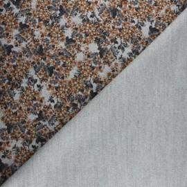 Tissu Drap manteau Garance - gris x 10cm