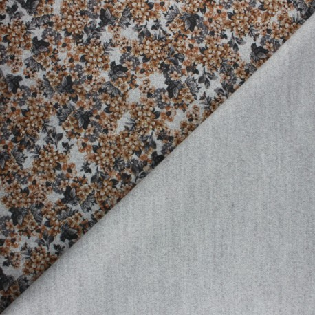 Coat sheet Fabric - Camel Garance x 10cm