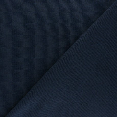 Suede twill fabric - navy blue x 10cm