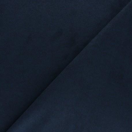 Tissu Suédine twill - bleu marine x 10cm
