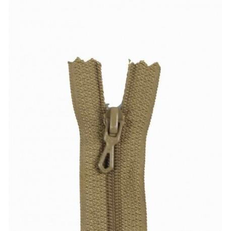 Closed bottom zipper - beige