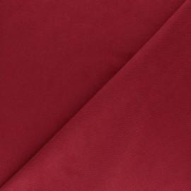 Tissu Suédine twill - rouge x 10cm
