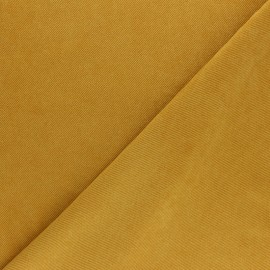 Suede twill fabric - mustard yellow x 10cm