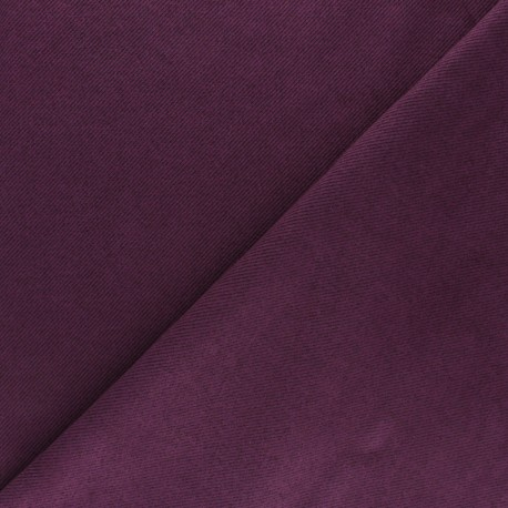 Suede twill fabric - purple x 10cm
