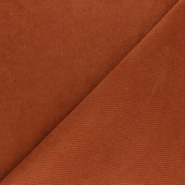 Suede twill fabric - brick red x 10cm