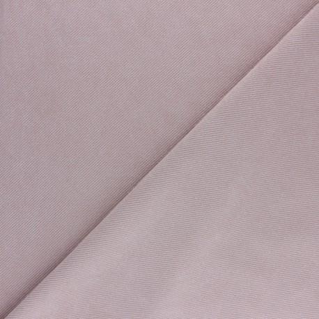 Tissu Suédine twill - rose clair x 10cm