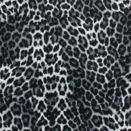 Terry-cloth jersey fabric - pink leopard x 10cm