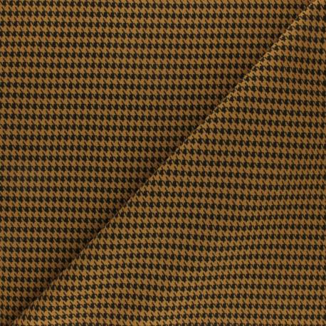 Elastane Crepe fabric - Black Houndstooth x 10cm