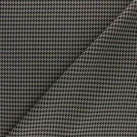 Elastane Crepe fabric - mustard Houndstooth x 10cm