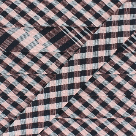 Stitched Cotton Bias Binding - Black x 1m