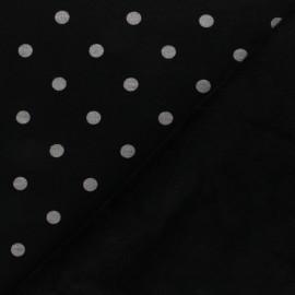 Sweatshirt fabric with minkee - Black Louise x 10cm