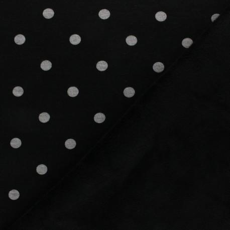 Tissu sweat envers minkee Louise - noir x 10cm