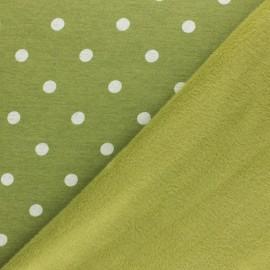 Sweatshirt fabric with minkee - lime green Louise x 10cm