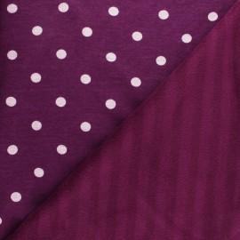 Sweatshirt fabric with minkee - purple fig Louise x 10cm