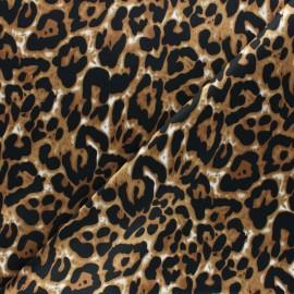 Polyester satin fabric - Caramel Jaguar Aniprim x 50cm