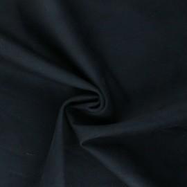 Suede elastane fabric - black Lorena x 10cm