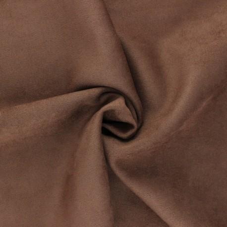 Tissu Suédine élasthanne Lorena - Rouille x 10cm