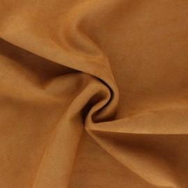 Suede elastane fabric - Bison Lorena x 10cm