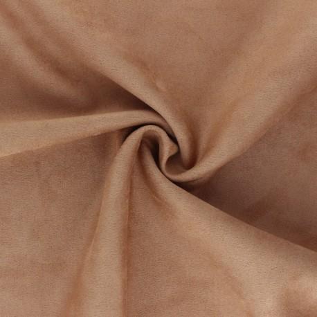 Tissu Suédine élasthanne Lorena - Camel x 10cm
