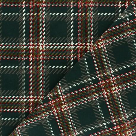Elastane Crepe fabric - Dark green Baker Street