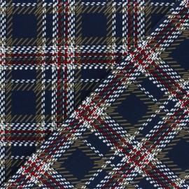 Elastane Crepe fabric - navy blue Baker Street x 10cm