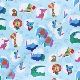 Cotton Jersey fabric - sky blue Pop Savannah x 10cm
