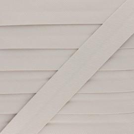Biais Piqué De Coton - Beige x 1m