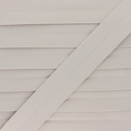 Stitched Cotton Bias Binding - Beige x 1m