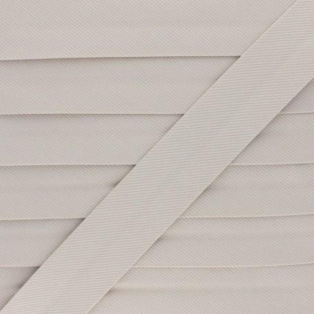 Stitched Cotton Bias Binding - Beige x 1m