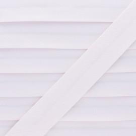 Biais Piqué De Coton - Rose pâle x 1m