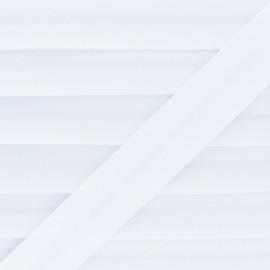 Biais Piqué De Coton - Blanc x 1m
