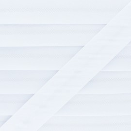 Stitched Cotton Bias Binding - White x 1m