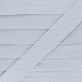 Stitched Cotton Bias Binding - Grey x 1m