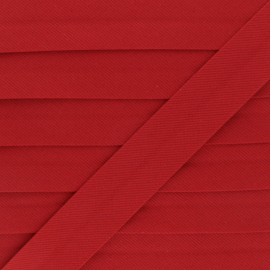 Biais Piqué De Coton - Rouge x 1m