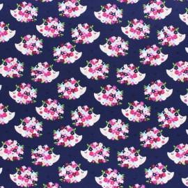 Cotton Jersey fabric - purple Iris the Hedgehog x 10cm