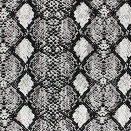 Tissu viscose Serpent - Gris x 10cm