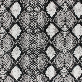 Viscose Fabric - Grey Snake x 10cm
