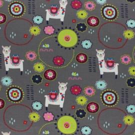 Cotton Jersey fabric - grey Hidden Leopard x 10cm