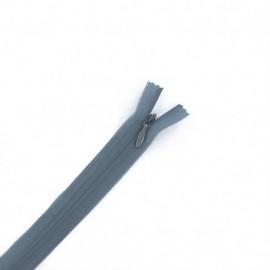Concealed 4 mm zip - blue grey