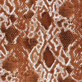 Tissu viscose Serpent - Fauve x 10cm