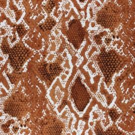 Viscose Fabric - Caramel Snake x 10cm