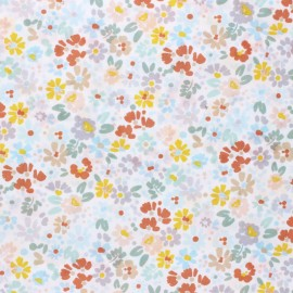 Dear Stella I'll all ears Poplin fabric - white Forget me not x 10cm