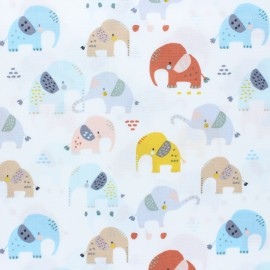Dear Stella I'll all ears Poplin fabric - white x 10cm