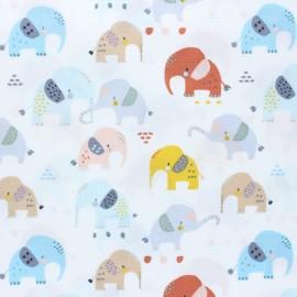 Dear Stella I'll all ears Poplin fabric - white x 10cm