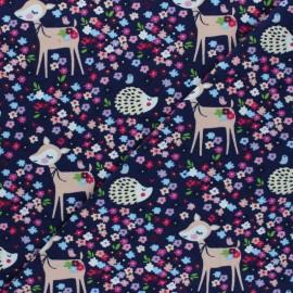 Cotton Jersey fabric - purple Iris & Lola x 10cm