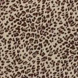 Tissu viscose Panthère - Beige Clair x 10cm